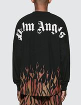 Palm Angels Long Sleeve Crew Neck Street Style Long Sleeves Cotton 4