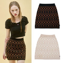 NASTYKICK Pencil Skirts Short Other Plaid Patterns Street Style Cotton