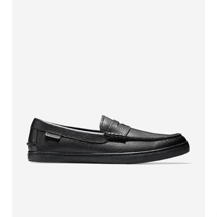 Loafers Plain Leather Logo Loafers & Slip-ons