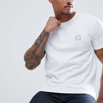 Crew Neck Pullovers Street Style Plain Cotton Short Sleeves