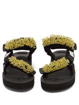 CECILIE BAHNSEN Rubber Sole Casual Style Plain With Jewels Sandals