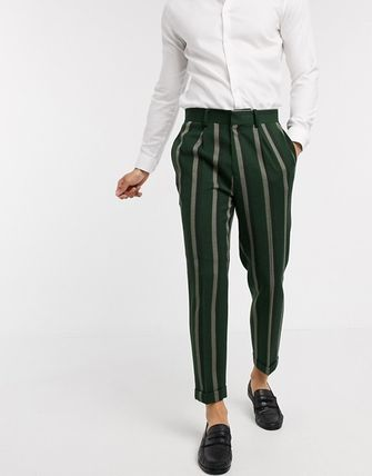 ASOS Tapered Pants Stripes Blended Fabrics Street Style