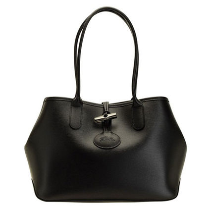 Longchamp Casual Style A4 Plain Party Style Office Style Elegant Style