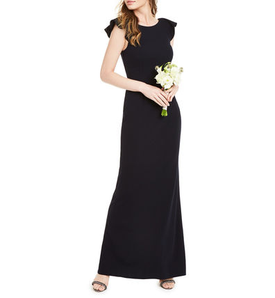 Tight Maxi Sleeveless Plain Long Dresses