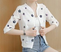 Short Flower Patterns Casual Style Nylon Street Style
