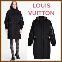 Louis Vuitton MONOGRAM Oversized Black Parka With Monogram Lining