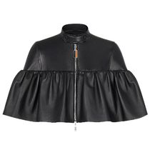 Louis Vuitton Short Plain Leather Party Style Elegant Style Jackets