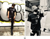 More T-Shirts Crew Neck Pullovers Unisex Street Style Cotton Short Sleeves 4