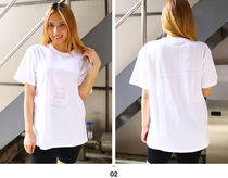 More T-Shirts Crew Neck Pullovers Unisex Street Style Cotton Short Sleeves 7