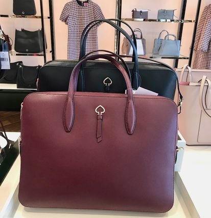 kate spade new york A4 2WAY Plain Leather Office Style Crossbody Bags