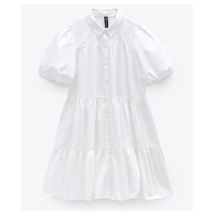Casual Style Cotton Dresses
