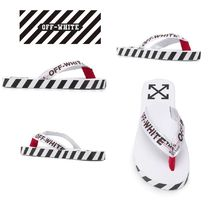 Off-White Stripes Unisex Street Style Sport Sandals Shower Shoes