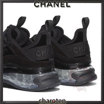CHANEL SPORTS Unisex Suede Blended Fabrics Street Style Bi-color Plain