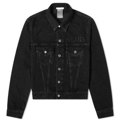 Unisex Denim Street Style Plain Denim Jackets Jackets