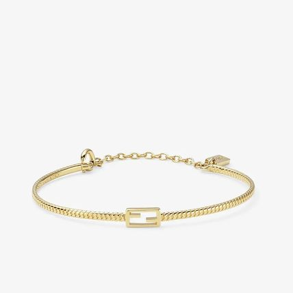 FENDI BAGUETTE Casual Style Street Style Party Style Brass Elegant Style