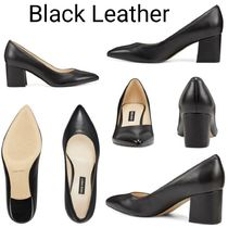 Nine West Casual Style Suede Plain Leather Block Heels Party Style