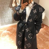 Louis Vuitton MONOGRAM Hooded Wrap Coat With Belt