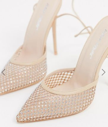 Casual Style Plain Party Style Elegant Style Heeled Sandals