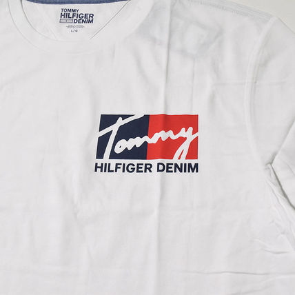 Tommy Hilfiger Crew Neck Crew Neck Unisex Street Style Cotton Short Sleeves Oversized 4