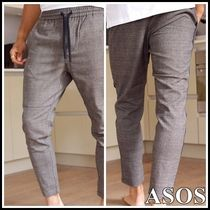 ASOS Tapered Pants Glen Patterns Cotton Tapered Pants