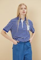 NOHANT Stripes Casual Style Unisex Street Style Cotton Medium