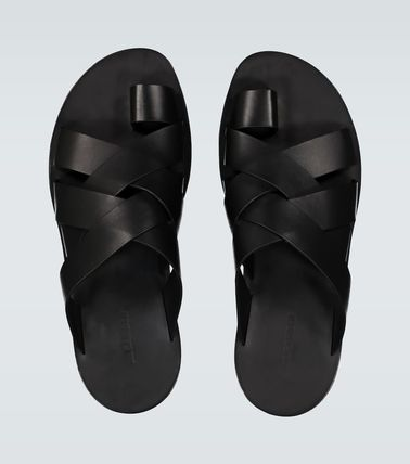 Jil Sander Leather Street Style Sandals