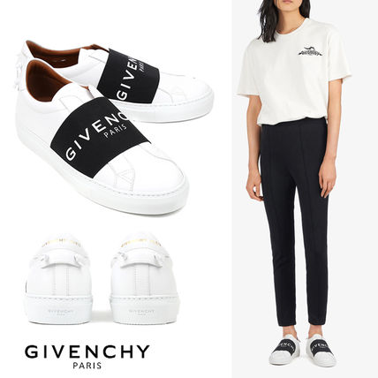 GIVENCHY Round Toe Rubber Sole Casual Style Unisex Street Style