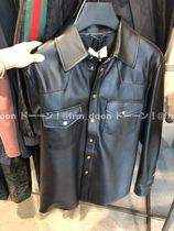 GUCCI Leather Shirt With Gucci Logo