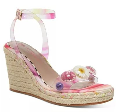 Flower Patterns Open Toe Platform Casual Style Party Style