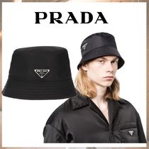PRADA Street Style Bucket Hats Wide-brimmed Hats