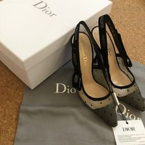 Christian Dior JADIOR Dots Casual Style Party Style Elegant Style Mules