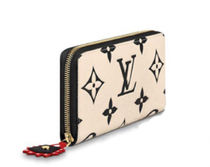 Louis Vuitton MONOGRAM Monogram Leather Logo Long Wallets