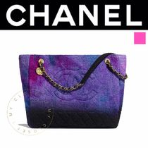 CHANEL ICON Casual Style A4 2WAY Chain Plain Leather Handmade