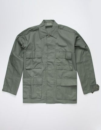 ROTHCO Button-down Camouflage Unisex Street Style Long Sleeves