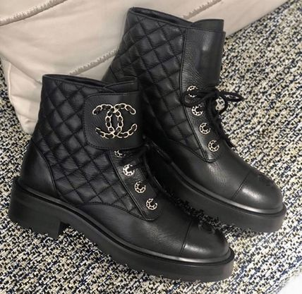 CHANEL Lace-up Lace-up Lace-up Boots