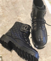 CHANEL Lace-up Lace-up Boots