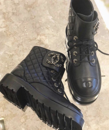 CHANEL Lace-up Lace-up Lace-up Boots 2