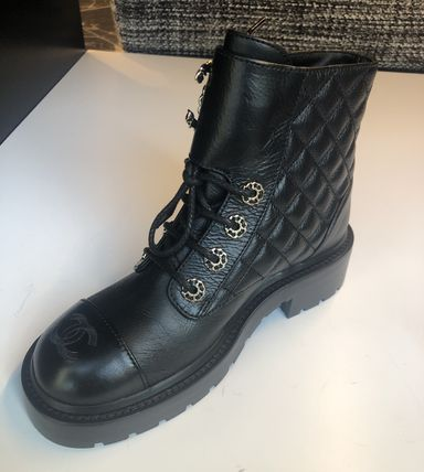 CHANEL Lace-up Lace-up Lace-up Boots 5