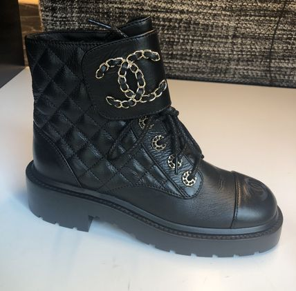 CHANEL Lace-up Lace-up Lace-up Boots 4