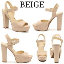 Jessica Simpson Open Toe Casual Style Plain Block Heels Party Style