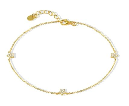 Casual Style 18K Gold Elegant Style Anklets
