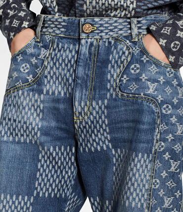 Louis Vuitton More Jeans Giant Damier Waves Monogram Denim Pants 3