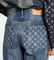 Louis Vuitton More Jeans Giant Damier Waves Monogram Denim Pants 5