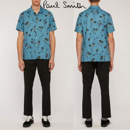 Paul Smith Shirts Street Style Short Sleeves Front Button Shirts