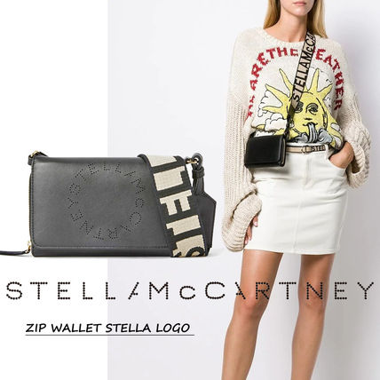 Stella McCartney STELLA LOGO Casual Style Vanity Bags Plain Party Style Office Style