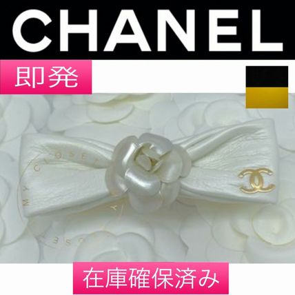 CHANEL ICON Casual Style Flower Leather Handmade Elegant Style