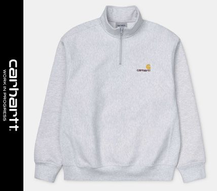 Carhartt Sweat Street Style Long Sleeves Logo Sweatshirts