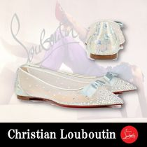 Christian Louboutin Platform Casual Style Blended Fabrics Plain Party Style