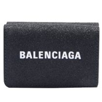 BALENCIAGA EVERYDAY TOTE Plain Leather Folding Wallet Folding Wallets