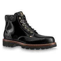 Louis Vuitton Monogram Mountain Boots Plain Leather Logo Outdoor Boots